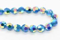 Caribbean Blue Opal AB 2x 5000 Swarovski Crystal Round Bead