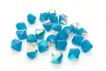 Caribbean Blue Opal AB 5301 Swarovski Elements Crystal Bicone Bead
