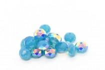 Caribbean Blue Opal AB 5040 Swarovski Elements Crystal Rondelle Bead