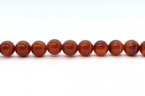 Carnelian (Dyed/Heated) Smooth Round Gemstone Beads