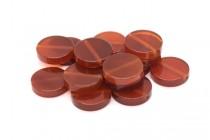 Carnelian (Dyed/Heated) Coin Gemstone Beads