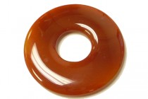 Carnelian (Dyed/Heated) Donut Gemstone Pendant