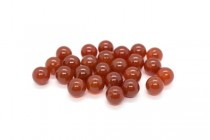 Carnelian (Dyed/Heated) Smooth Round Gemstone Half Drilled Beads