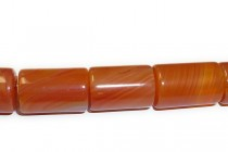 Carnelian (Treated) A grade Big Hole Tube Gemstone Beads