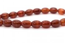 Carnelian (Dyed/Heated) Egg Shaped Gemstone Beads