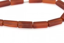 Carnelian (Dyed/Heated) Four Sided Tube Gemstone Beads