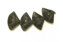 Black Cinnabar ( Imitation ) Beads - Fan - CB-25