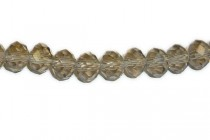 Brown Chinese Crystal Rondelle Glass Beads