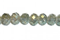 Green Celery Satin Chinese Crystal Rondelle Glass Beads