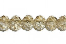 Brown / Beige Chinese Crystal Rondelle Glass Beads