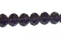 Purple Dark Chinese Crystal Rondelle Glass Beads