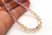 Ceylon Topaz AB2x 5301/5328 Swarovski Crystal Elements Bicone Bead