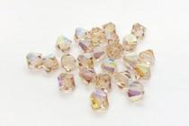 Ceylon Topaz AB Swarovski Crystal Bicone Beads 5301/5328