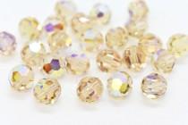 Ceylon Topaz AB 5000 Swarovski Elements Crystal Round Bead