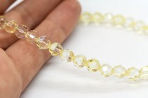 Crystal Champagne 5000 Swarovski &reg: Crystal with third-party coating,Round Bead