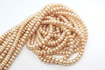 Button Freshwater Pearls - Champagne