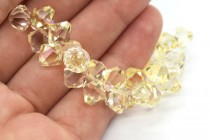 Crystal Champagne 6301 Swarovski ®: Crystal with third-party coating,Top Drilled Bicone Pendant