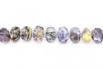 Chinese Charoite ( Natural ) A grade Faceted Nugget Gemstone Beads