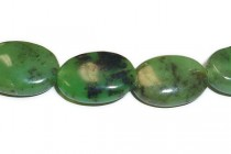 Chinese Chrysoprase (Natural) Flat Oval Gemstone Beads