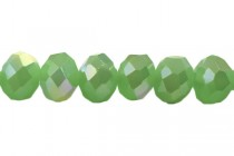 Green Leaf Opal AB (Light ) Opaque Chinese Crystal Rondelle Glass Beads