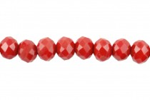 Red Crimson Opaque Chinese Crystal Faceted Rondelle
