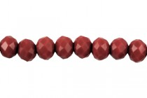 Red Dark Opaque Chinese Crystal Faceted Rondelle