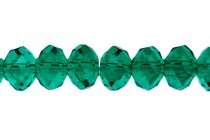Green (Emerald ) Chinese Crystal Rondelle Glass Beads