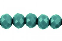 Turquoise Green Opaque Chinese Crystal Rondelle Glass Beads