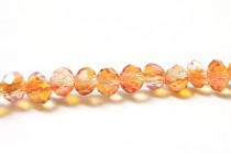 Orange Opalescent Chinese Crystal Rondelle Glass Beads