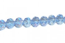 Blue Light Sapphire AB Chinese Crystal Rondelle Glass Beads