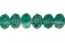 Green (Emerald ) AB Chinese Crystal Rondelle Glass Beads
