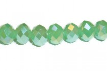 Green Grass Opal AB Opaque Chinese Crystal Rondelle Glass Beads