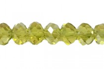 Green Lime AB Chinese Crystal Rondelle Glass Beads