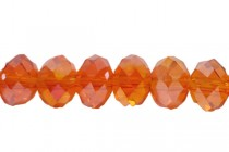 Orange Red Hyacinth AB Chinese Crystal Rondelle Glass Beads