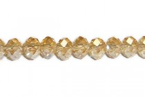 Peach ( Light ) Chinese Crystal Rondelle Glass Beads
