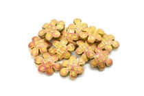 Coral Pink Cloisonne Beads - Chinese Knot CL-83
