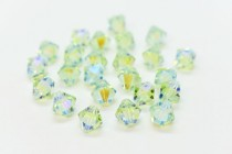 Chrysolite AB2x 5301/5328 Swarovski Elements Crystal Bicone Bead