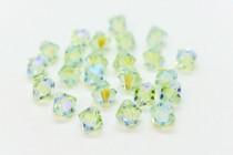 Chrysolite AB2x Swarovski Crystal Bicone Beads 5301 - Factory Pack Quantity