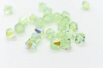 Chrysolite AB Swarovski Crystal Bicone Beads 5301 - Factory Pack Quantity