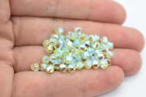 Chrysolite Opal AB2X 5301/5328 Swarovski Elements Crystal Bicone Bead