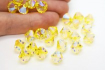 Citrine AB2x 5301/5328 Swarovski Elements Crystal Bicone Bead
