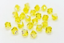Citrine AB 5301 Swarovski Elements Crystal Bicone Bead
