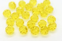 Citrine 5000 Swarovski Elements Crystal Round Bead