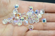 Crystal AB 5000 Swarovski Elements Crystal Round Bead