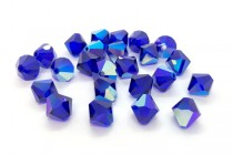 Cobalt AB 5301/5328 Swarovski Elements Crystal Bicone Bead