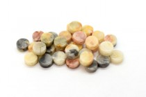 Crazy Lace Agate (Natural) Flat Coin Gemstone Beads