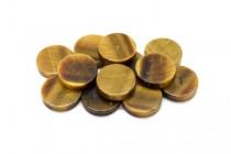 Tigers Eye (Natural) Coin Gemstone Beads