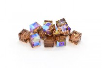 Colorado Topaz AB 5601 Swarovski Elements Crystal Cube Beads