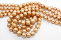 Potato Freshwater Pearls - Peach - A Grade - 10-11mm