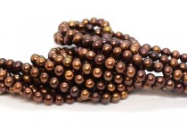 Copper Brown (Dyed) Large Potato Freshwater Pearl Beads